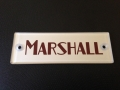 Marshall block logo silver/red, plexi